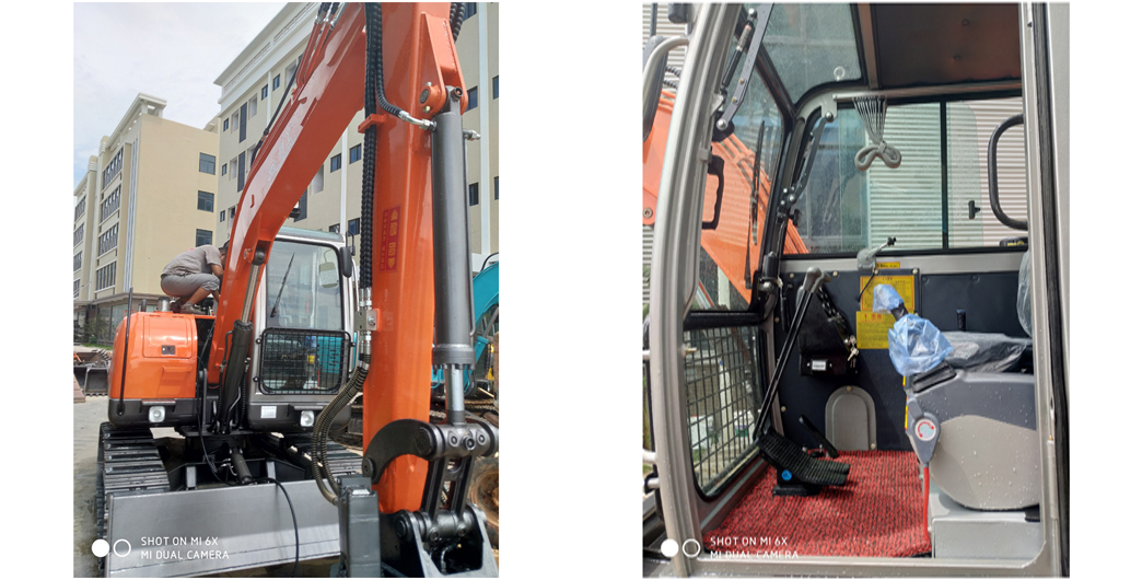 75 L crawler excavator pictures of JingGong manufacturer in China