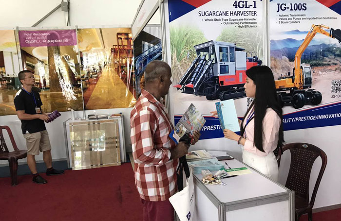 China Jing Gong excavator manufacturer attends the CONSTRUCT2017 in Sri Lanka
