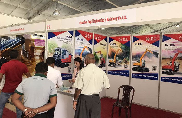 China Jing Gong construction manufacturer attends the CONSTRUCT2017 in Sri Lanka