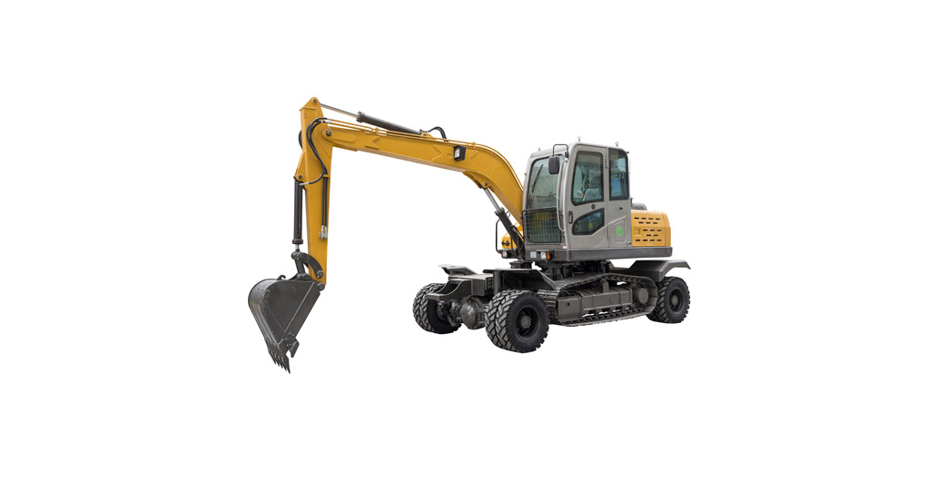 Jing Gong hot sale 100ZL 9.4 ton wheeled and crawler integrated excavator