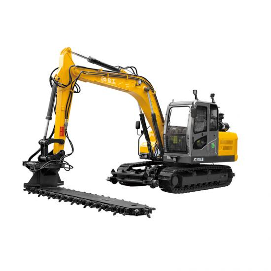 Jing Gong 80L railway crawler excavator with ballast machine