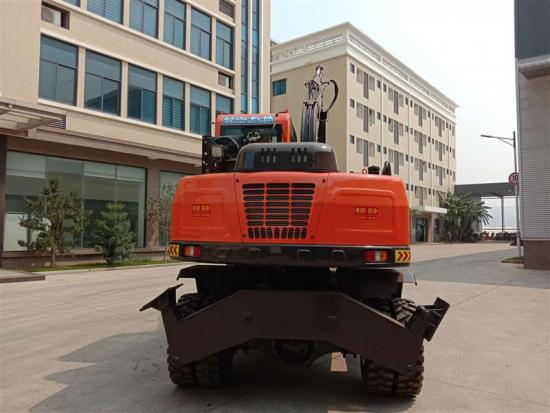 Jing Gong 100Z grapple excavator