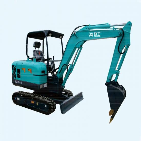 Jing Gong 30L 2.6 ton small crawler excavator with replaceable rubber track