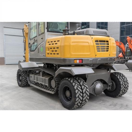 Jing Gong 100ZL 9.4 ton wheeled and crawler integrated excavator