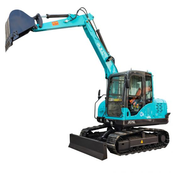 6 tons track hoe excavator with backhoe